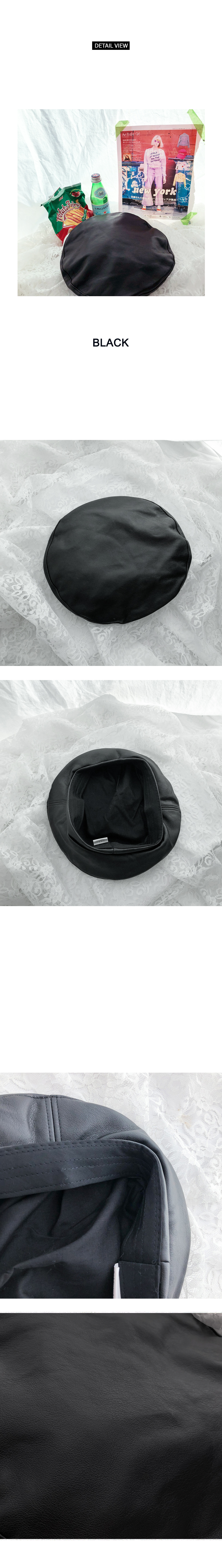 Synthetic Leather Berets