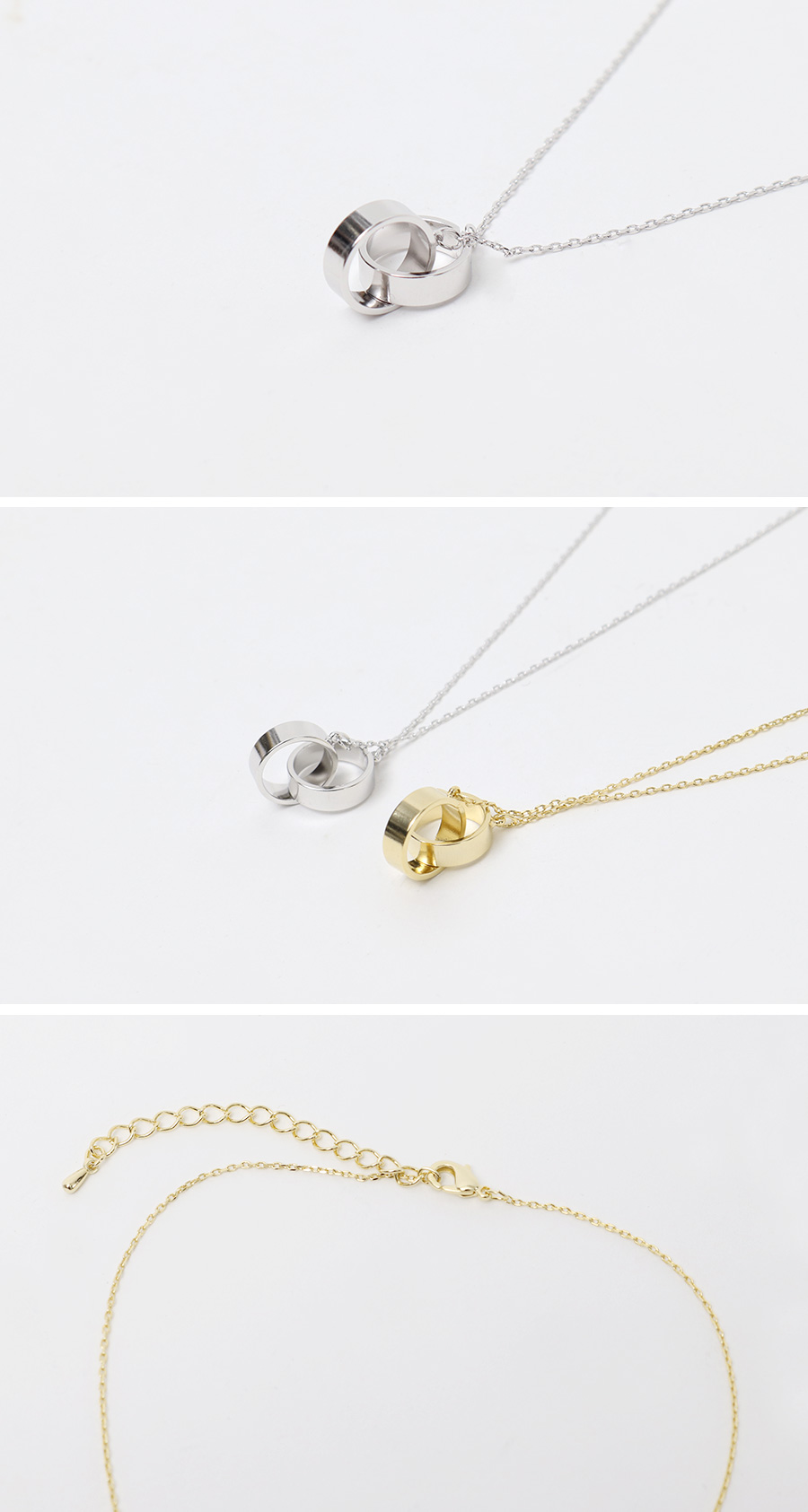 Cross ring pendant necklace_K (size : one)