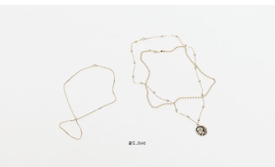 Trick trio necklace_S (size : one)