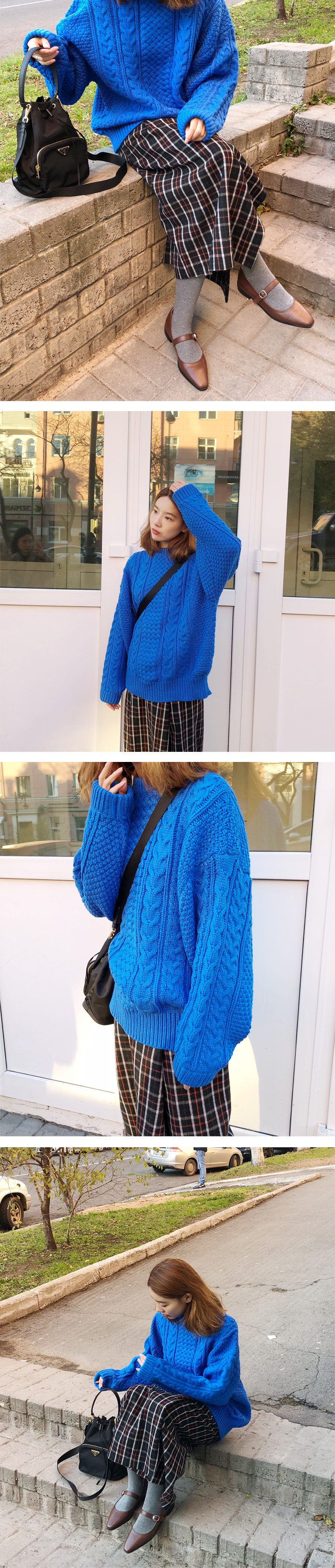 Diverse twist bulky knit_Y (size : free)
