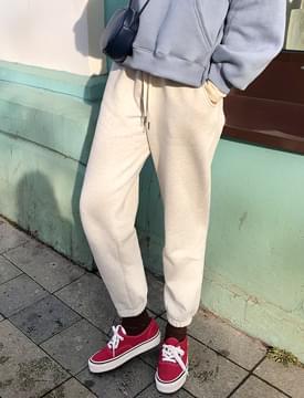 韓國空運 - Fleece Fleece-lined jogger pants 長褲