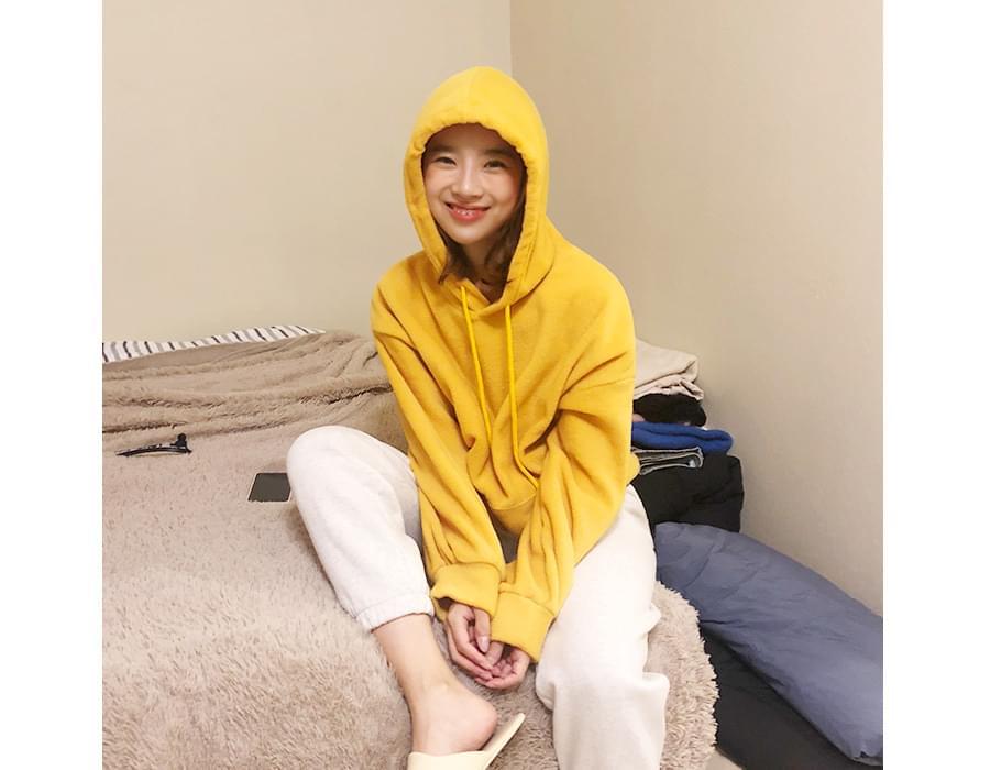 Wear fleece color hood_K (size : free)