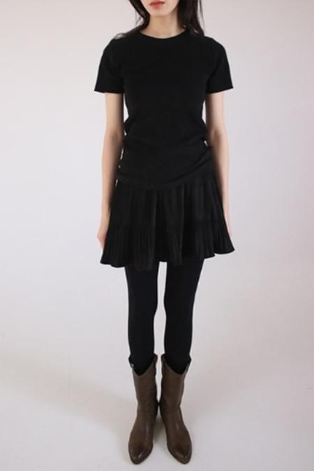pleats mini skirt (4colors)