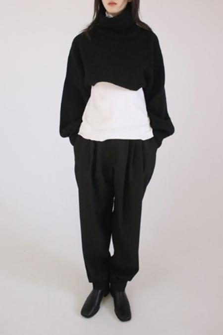 wool jogger pants (2colors)