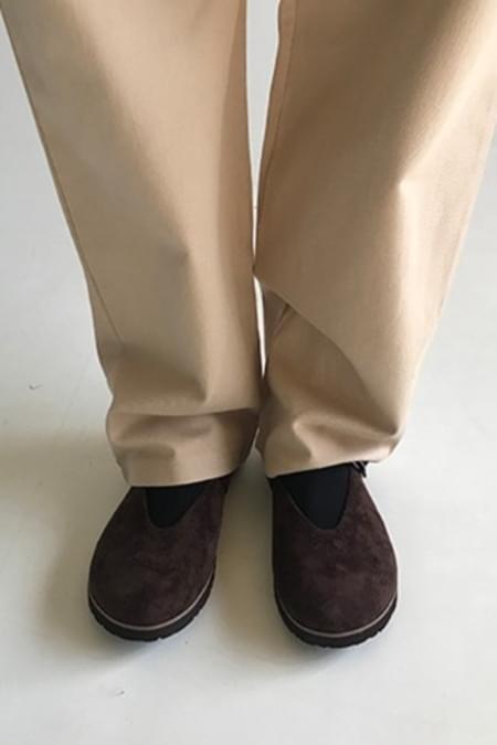 suede cozy shoes (2colors)