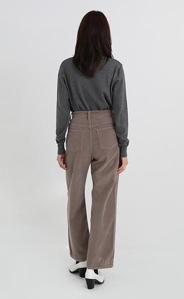 corduroy basic semi boots pants (3colors)