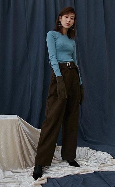 slim golgi round knit (5colors)