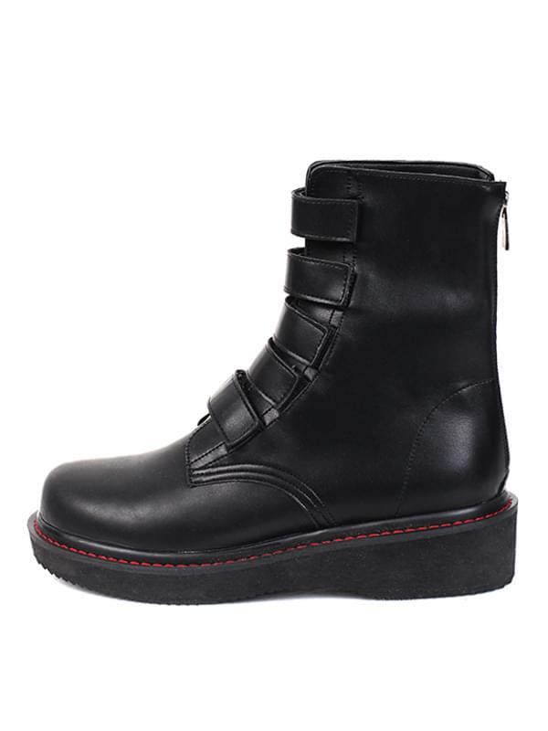 stitch line velcro walker boots (2 type)