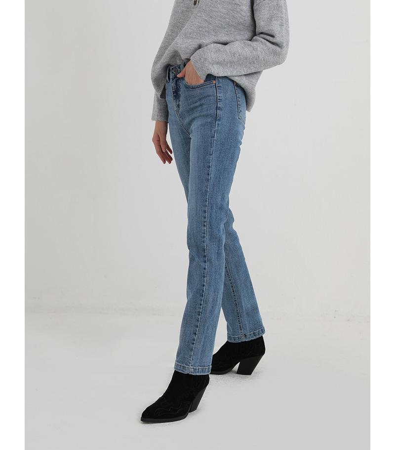 new napping slim straight denim pants
