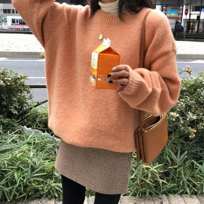 Chop-mohair knit