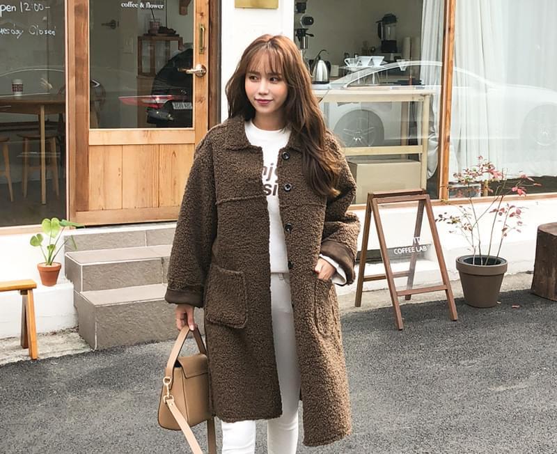 Teddy double-sided fleece coat