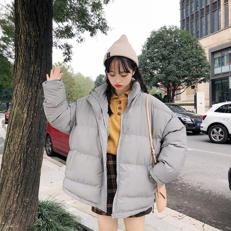 Double-sided anorak padding jumper