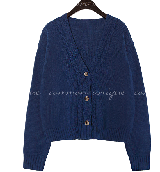 DAY WOOL 60% TWIST KNIT CARDIGAN