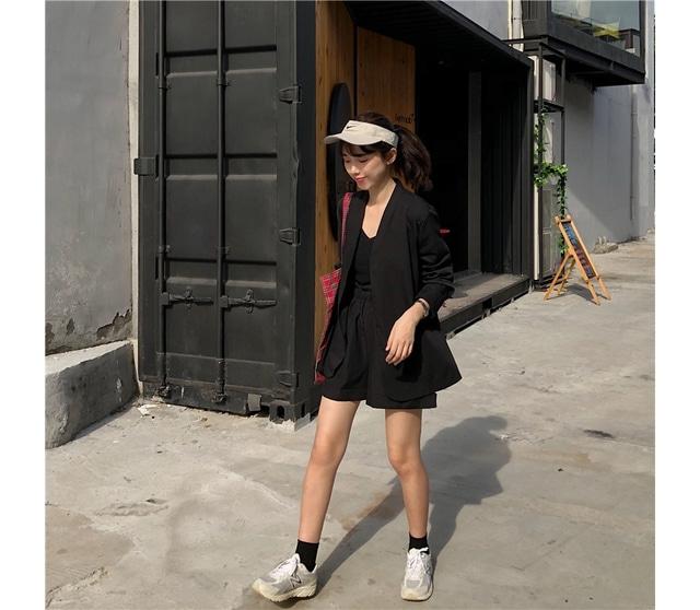 Nokara black jacket pants nashi set