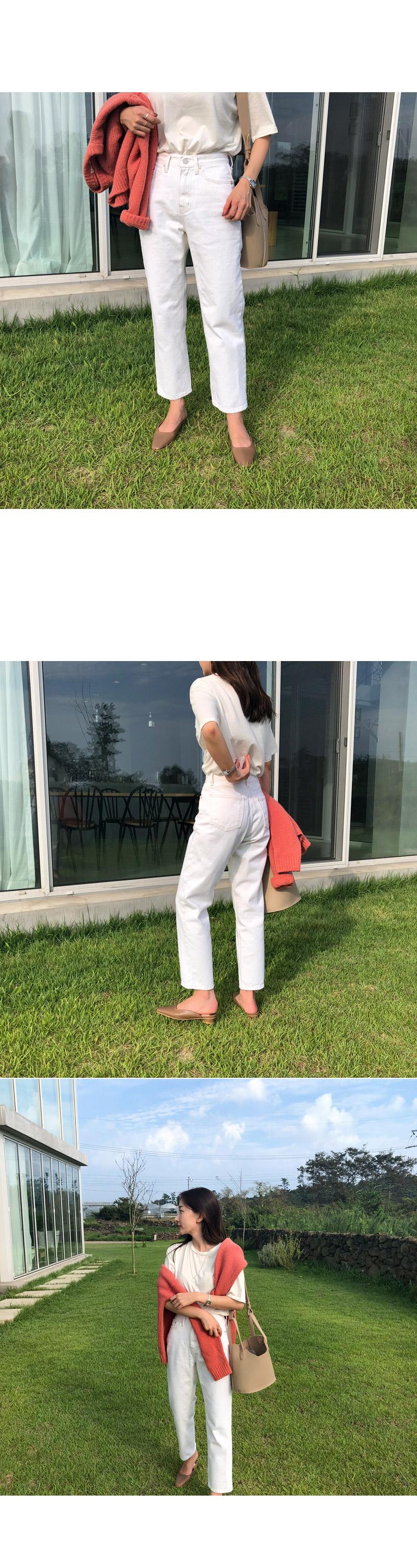 Natural cream pants M ships same day