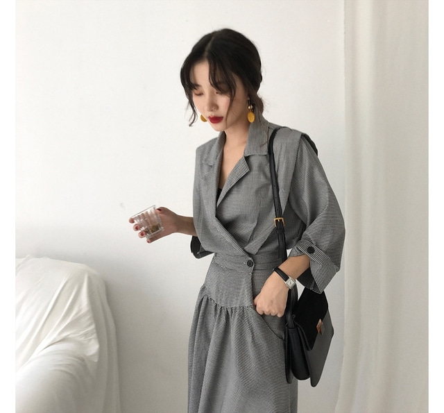 Holly check pattern unbranded dress