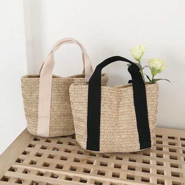 Ratan square mini tote bag