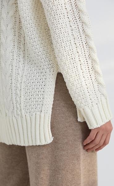 unbal twist slit knit (6colors)