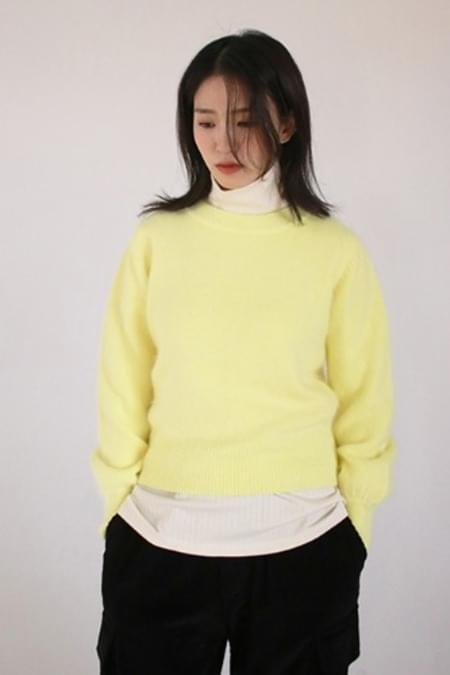colorful angora knit top (5colors)