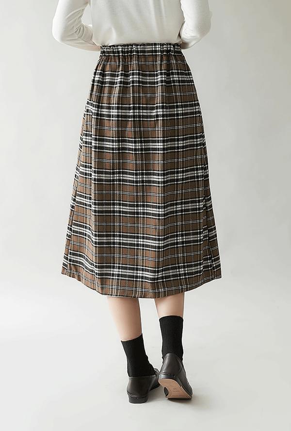Mino check skirt