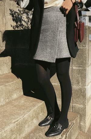Maisen-herringbone skirt