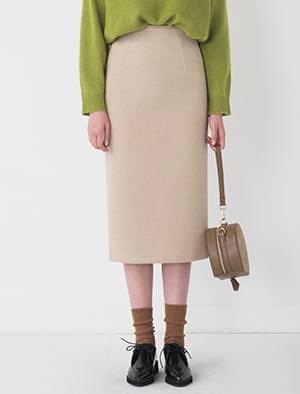 golgi knit H-line skirt