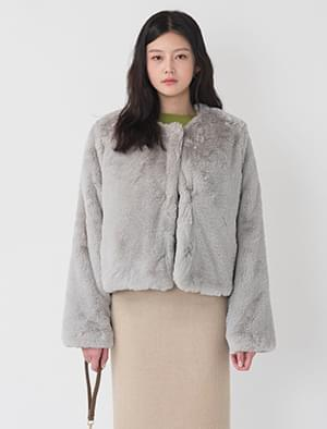 soft texture fur jacket
