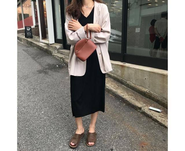 Beige simple cotton jacket