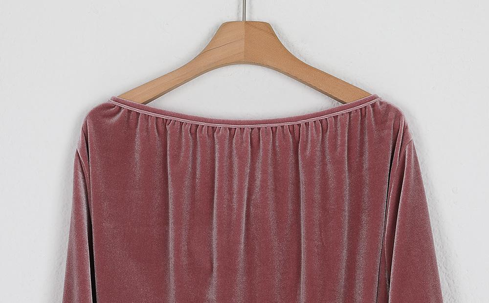 velvet strap blouse