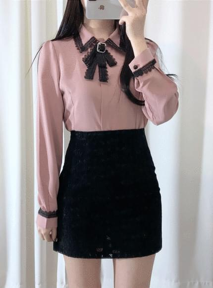 ♥ franc brooch blouse