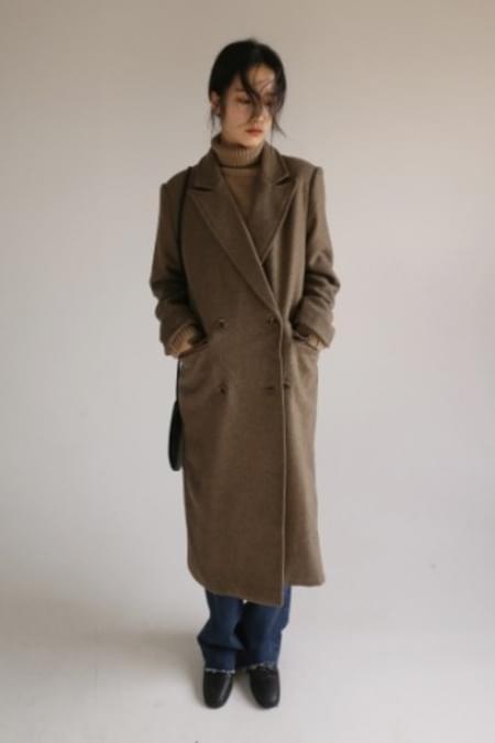 wool twill coat (2colors)