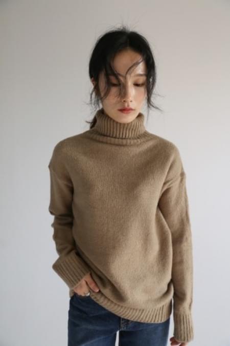 cozy warm turtleneck knit top (3colors)