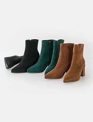 trendy corduroy ankle boots