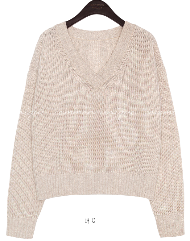 5 COLOR HONEY WOOL 60% V NECK KNIT