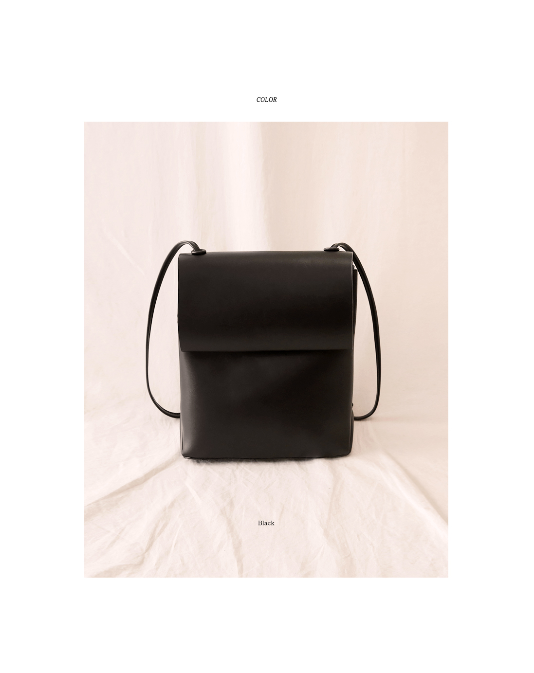 CLASSY SQUARE LEATHER BACKPACK