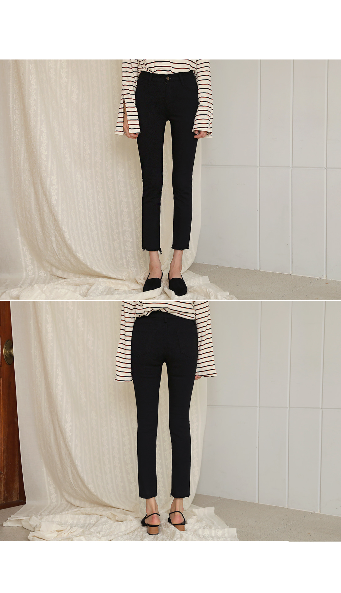 [BOTTOM] CLEAR STRAIGHT CUTTING PANTS