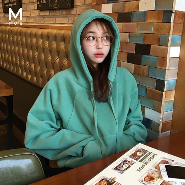 Both brushed hoodies