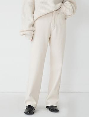 ivory napping straight pants