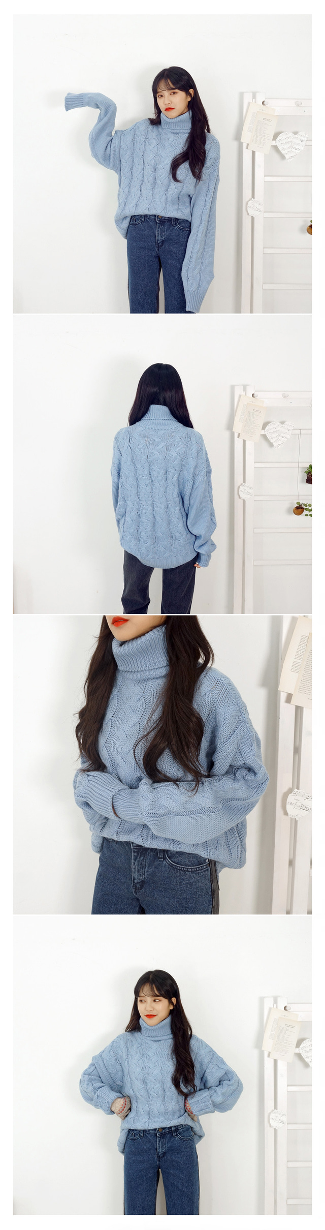 Front and back color scheme denim P
