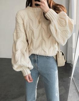 Pretzwe puff knit