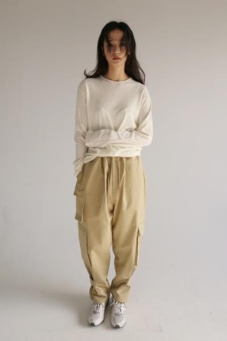 unisex cotton cargo pants (3color)