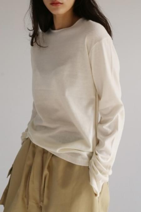 soft round t-shirt (2colors)