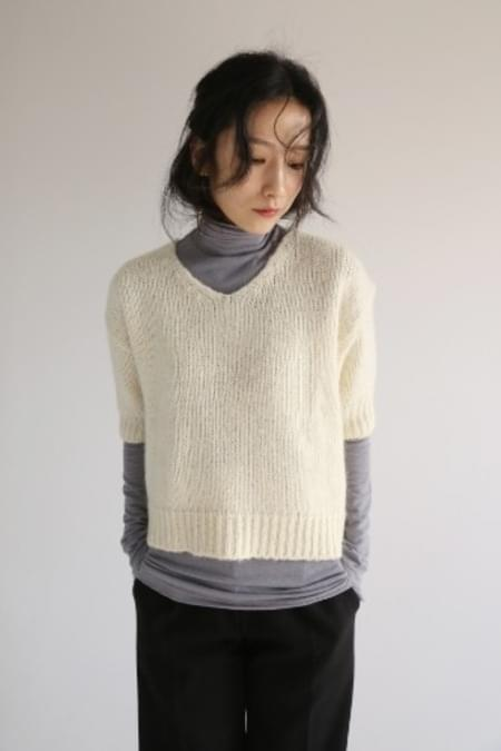 over hair knit (2color)