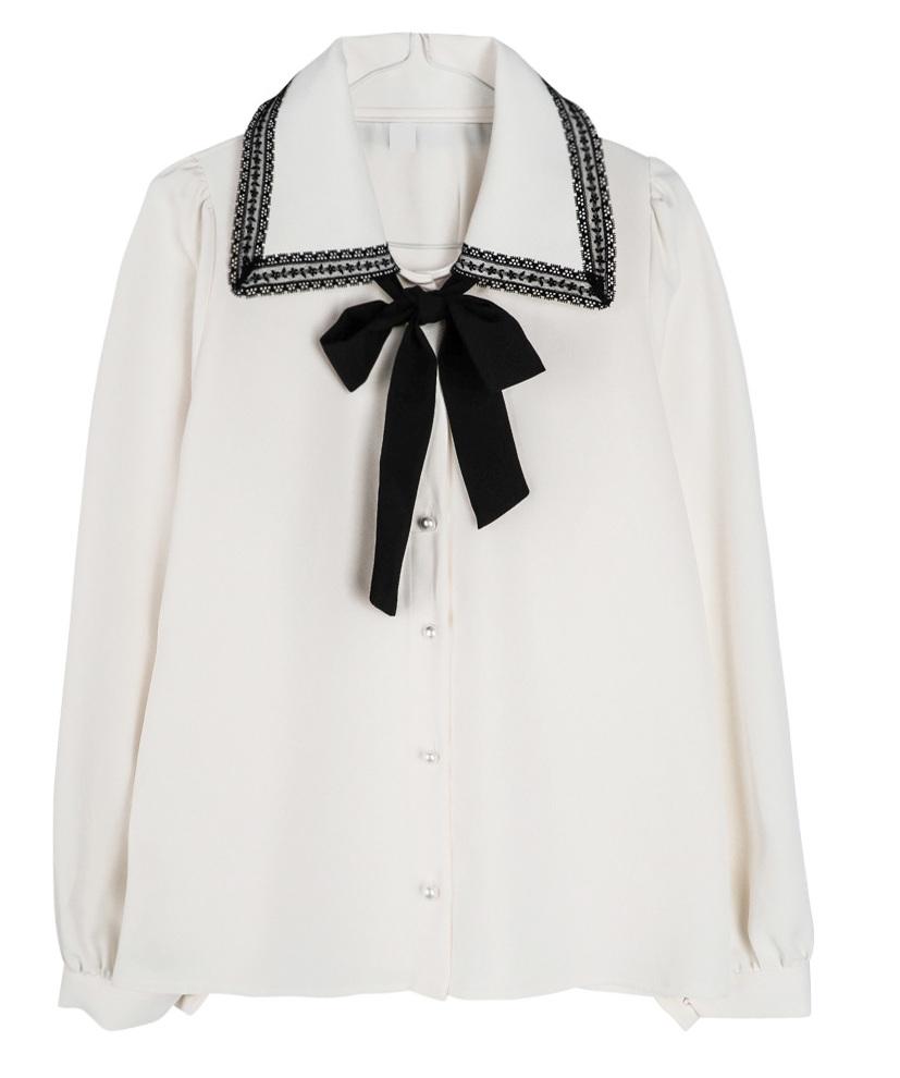Black Swan Ribbon Blouse