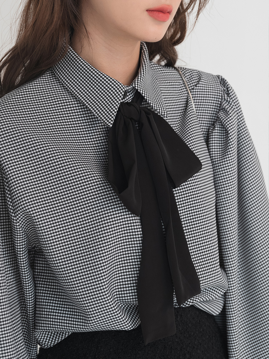 puff sleeve strap blouse