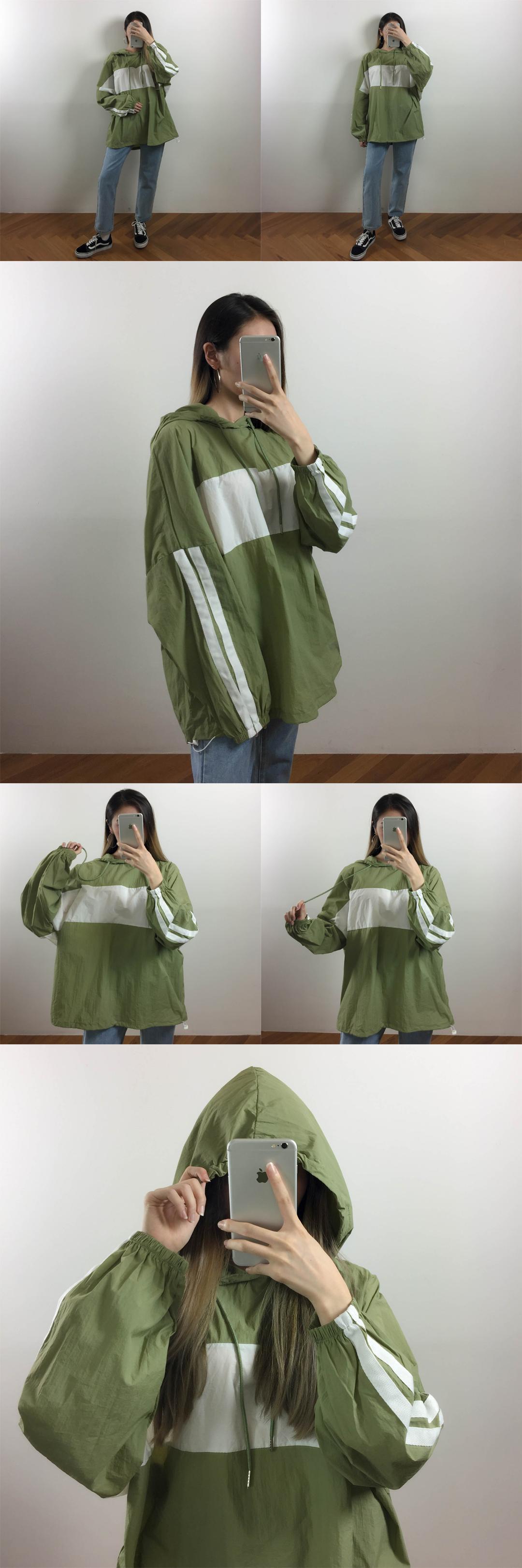 Two-line anorak hood