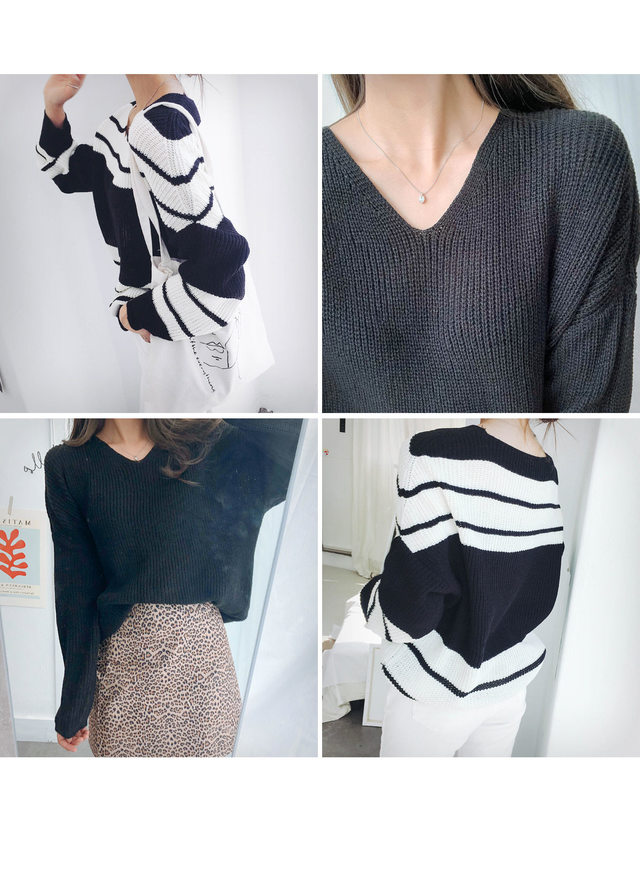 Knit loose fittings