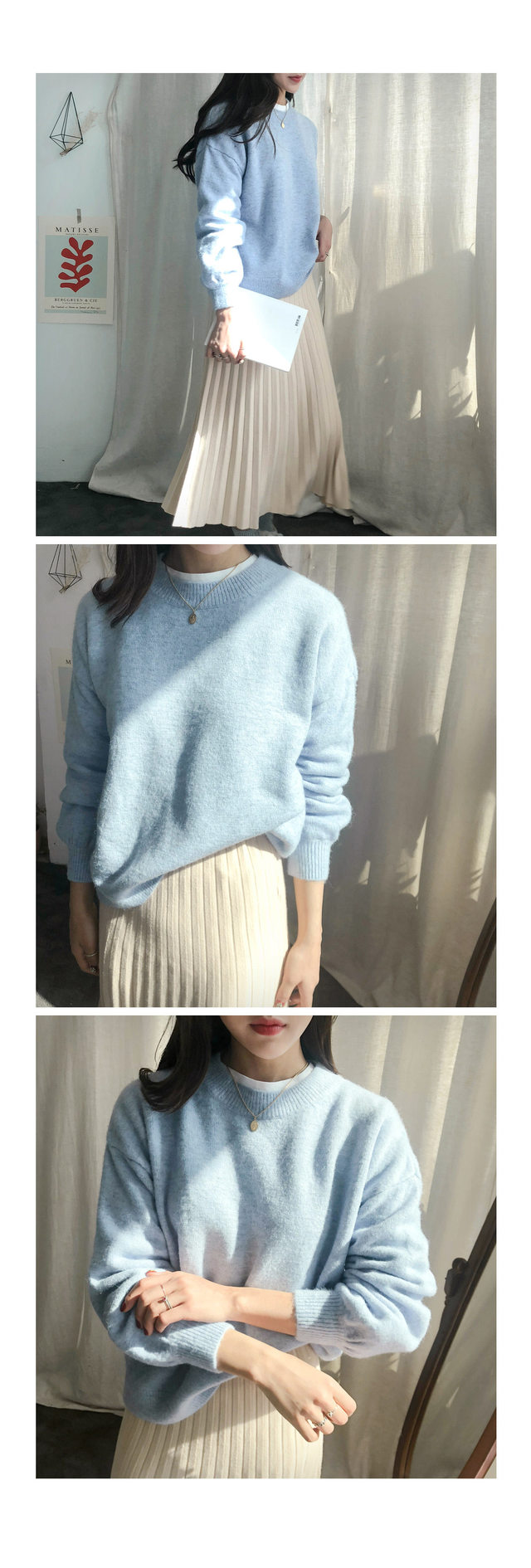 Wool baccy egg puff knit