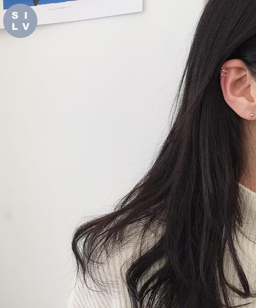 (silver925) two earcuff