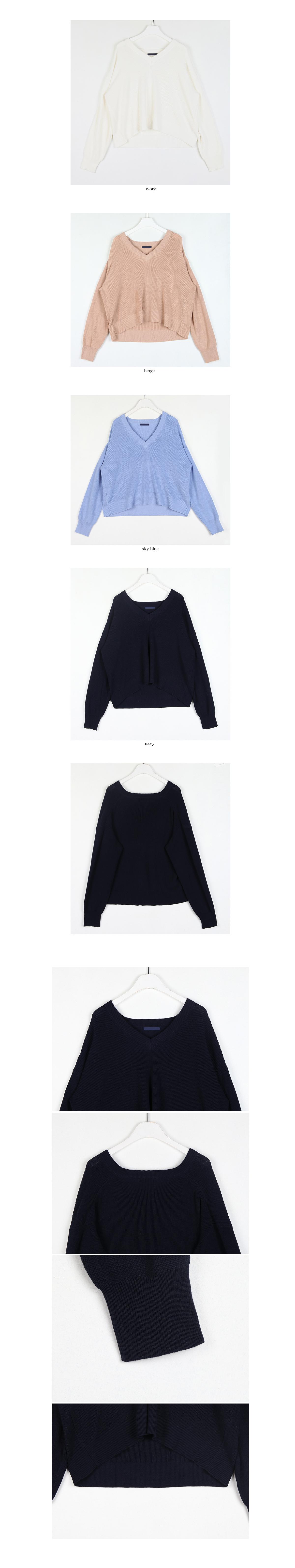 enough v-neck knit (4colors)
